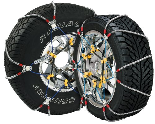 Security Chain Company SZ435 Super Z6 Cable Tire Chain for Passenger Cars, Pickups, and SUVs - Set of 2 - Chevrolet Tahoe Cornering Light