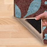 Ruggies As Seen On TV Rug Gripper Stopper Rug Pad Ruggy Washable Carpet Pad Floor Gripper Suction Grip Stopper Corner Carpet Holder include 8 adhesive sticker + 8 Rug Pad offers