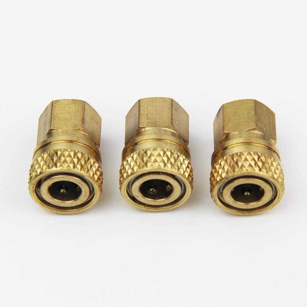 Paintball PCP 8mm Quick Release Disconnect Coupler 1//8NPT Fitting Female Gold