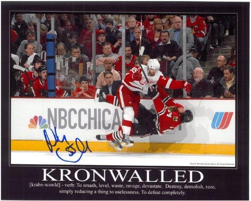 Niklas Kronwall Autographed 'Kronwalled' 16x20 Photo Detroit City Sports