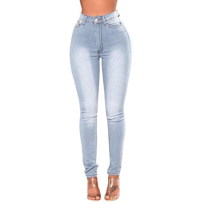 JiaMeng Mujer Pantalones Vaquero Skinny Push Up Pantalones ...