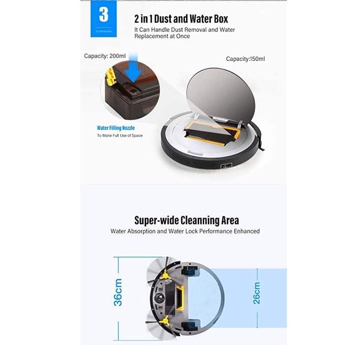 SPFAZJ Robot de limpieza Wifi Sweeping Robot Aspirador Smart Home ...