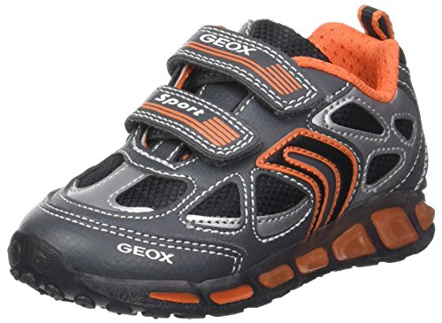 Geox J Shuttle a, Zapatillas para Niños Gris (Grey/orange)