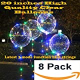 LED balloons Latest design! 20 inches - 8 pack with 8 sets 3 modes colorful Fairy LED strings inflatable with Helium