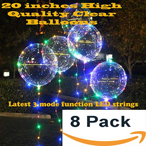 LED balloons Latest design! 20 inches - 8 pack with 8 sets 3 modes colorful Fairy LED strings inflatable with Helium -