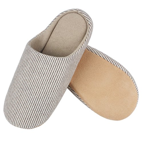 Andux Padded Slippers Soft Shoes Travel For and Washable Work Home Sole MTX Coffee Slip Stripes Zone Winter Autumn Anti Cotton 01 qr0IrE