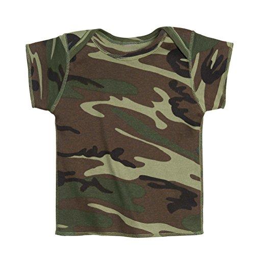 Mashed Clothing Baby Newborn Camo Camouflage T-Shirt (Woodland Camo, Newborn) ()