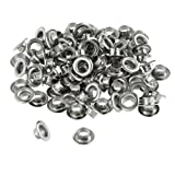 "100pc 1/4"" Grommets Eyelets for Clothes, Leather, Canvas - Self-Backing"