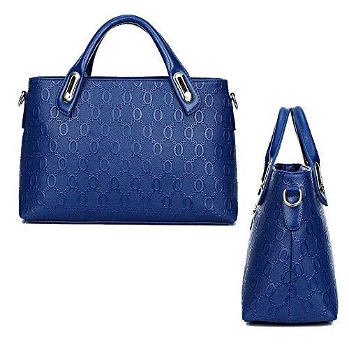 Crossbody Purse Black PCS 4 Tote Leather Women Outdoor Holder Ladies Card Bag Handbag Office Messenger Wallet Blue Shoulder Bear PU ZrvdxvUwnq