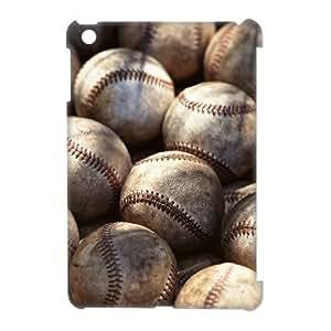 wugdiy Custom Hard Plastic Back 3D Case Cover for iPad Mini with Unique Design Baseball