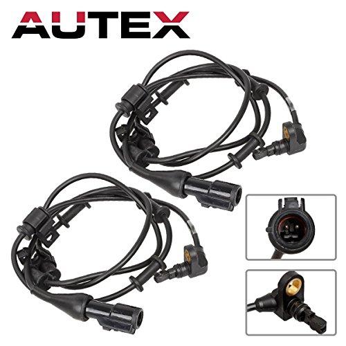 (AUTEX 2PCS ABS Wheel Speed Sensor Front Left & Right ALS528 2L1Z2C190AA 2L1Z2C204CA Compatible with Ford Expedition 03 04 05 06 2003 2004 2005 2006 4.6L 5.4L/Lincoln Navigator 2003 2004 2005 06 5.4L )