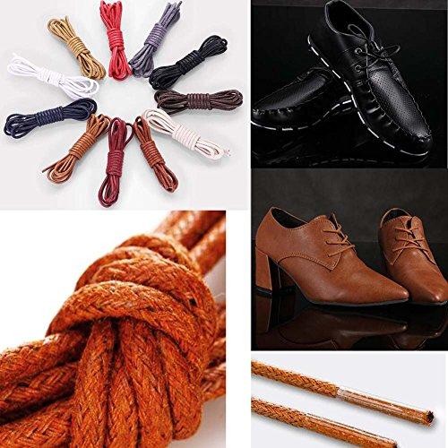 Black Temptation Lacets de chaussures cirés extra minces 2 paires (pour chaussures) - Extra Durable, E