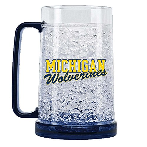 NCAA Michigan Wolverines 16oz Crystal Freezer ()