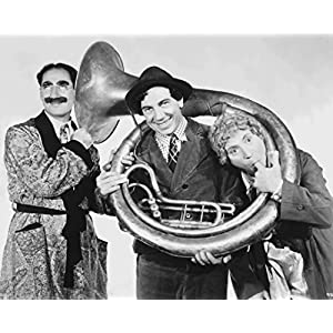 "Globe Photos ArtPrints Marx Brothers Posed In Classic Portrait Playing Musical Instruments - 10"" X 8"" Pop Culture Art Photographic Full Bleed Print - Premium Paper"