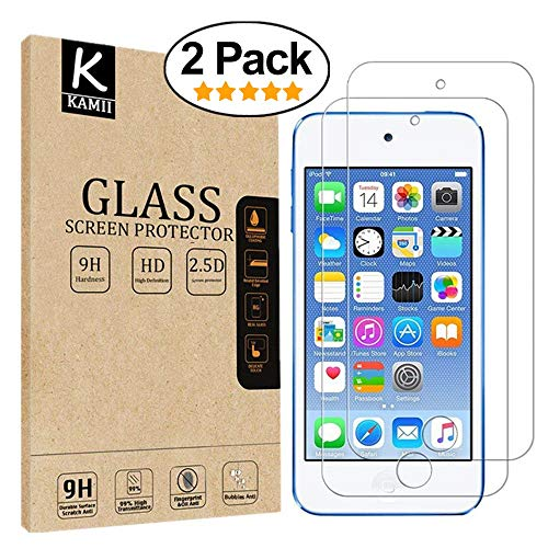 Screen Protector - KAMII Curved Edge Tempered Glass 0.2mm Ultra Thin 9H Hardness 2.5D Round Edge for Apple iPod Touch 5th / 6th Generation with Lifetime Replacement Warranty ()