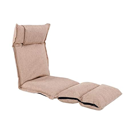 YLCJ Silla de Piso Plegable Lazy Lounge Sofá Respaldo ...