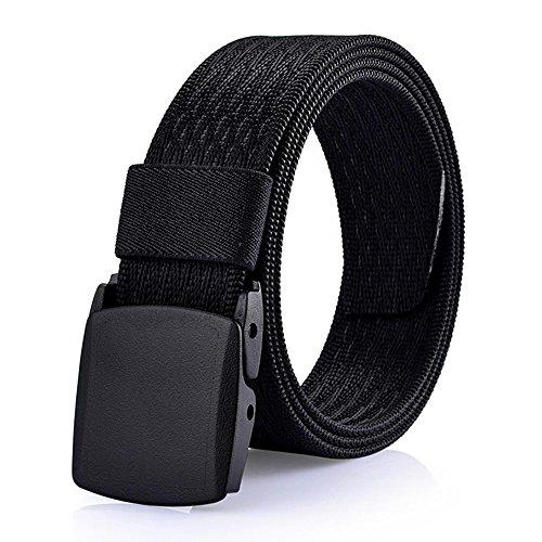 [해외]WYuZe 남자의 군사 전술 웹 벨트 캐주얼 나일론 웨 빙 없는 금속 버클 / WYuZe Men`s Military Tactical Web Belt Casual Nylon Webbing with No Metal Buckle
