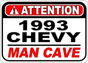 1993 93 CHEVY LUMINA Z34 Attention Man Cave Aluminum Street Sign - 10 x 14 Inches