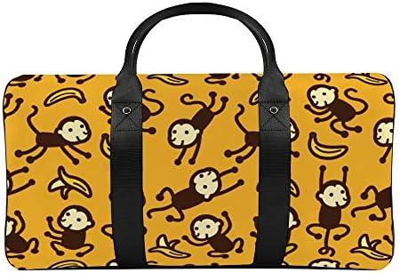 ボストンバッグ ダッフルバッグ 猿 サル モンキー スポーツバッグ 旅行バッグ 旅行カバン メンズ レディース ジムバッグ キャリーオンバッグ 大容量 トラベルバッグ 収納バッグ ショルダバッグ カート固定ロープ付き