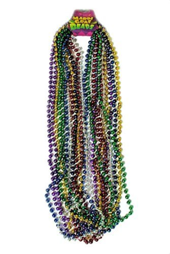 Assorted Color Mardi Gras Throw Beads : package of 12, 33