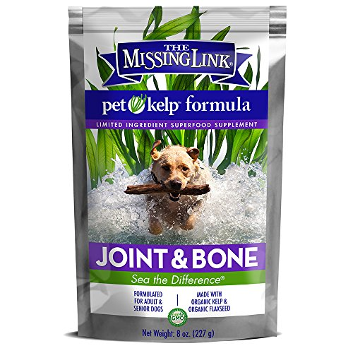 The Missing Link - Non-GMO Pet Kelp, Joint & Bone Formula — Limited ingredient Superfood Supplement for Dogs rich in Omegas and with Glucosamine to support healthy nutrition and mobility  — 8 oz. by The Missing Link