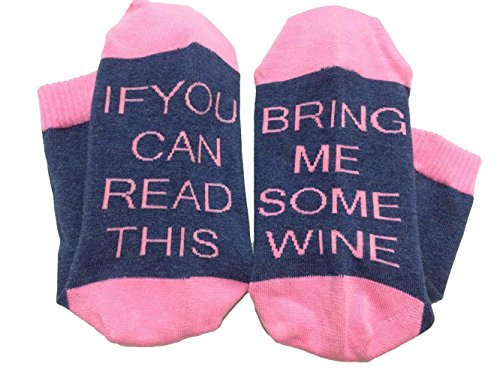 Price comparison product image Must Rose Unisex Christmas Cotton Socks If You Can Read This Talking Socks (One Size, Pink) - Knit-in Word, not Printed