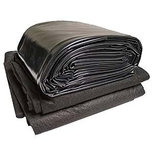 Anjon Polyguard PVC 30pies x 60pies.–20-mil estanque maletero y Geo Combo