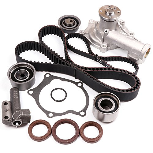 SCITOO Timing Belt Water Pump Kit fit 1991-1992 Mitsubishi Galant 2.0L L4 Code 4G63T - Laser Engine Water Pump
