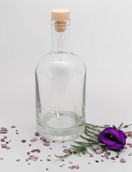 casa-vetro 3, 4 o 6 Botellas de Cristal 500 ml Nocturne-HGK 0,5 litros Botellas de chupito, Vidrio, Blanco, 3 Unidades