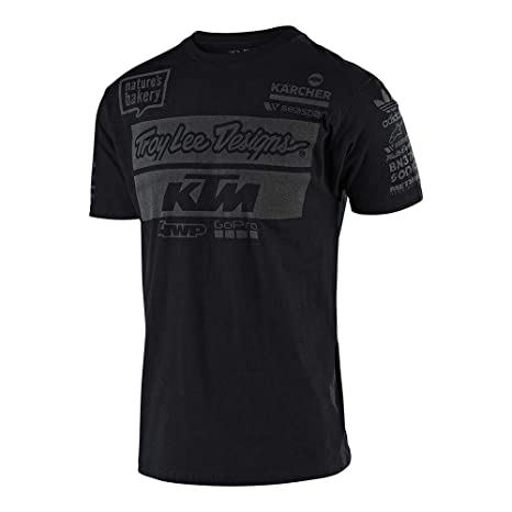 eab3ee161 Amazon.com: Troy Lee Designs Official Team KTM Men's T-Shirt (Small,  Black): Automotive