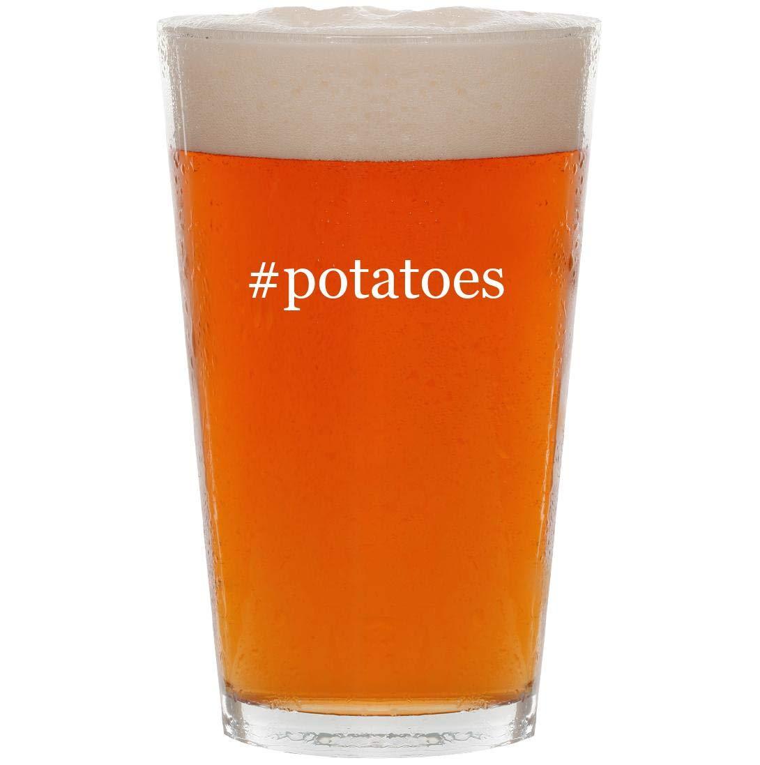 #potatoes - 16oz Hashtag Pint Beer Glass