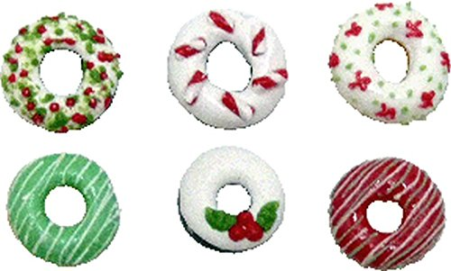 Dollhouse Miniature Holiday Doughnuts by Bright deLights