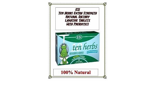 Amazon.com: 150ct ESI Ten Herbs ES w Pre-Biotics 100% Natural Digestion Save 25%: Health & Personal Care
