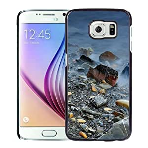 Fashionable Custom Designed Samsung Galaxy S6 Phone Case With Rocks And Fog_Black Phone Case Kimberly Kurzendoerfer