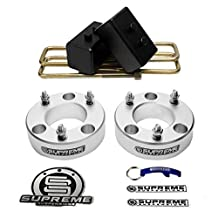 """Supreme Suspensions - Ford F150 Full 2"""" Front + 2"""" Rear Suspension Leveling Lift Kit 4x2 4x4 (Silver) PRO"""