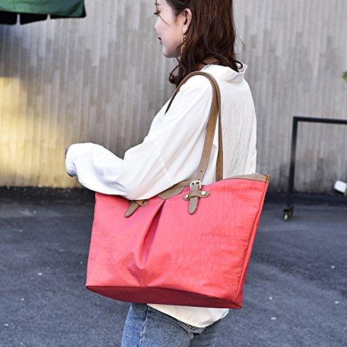 MeCooler Bolso de Mano Mujer Bolsas Grandes Bolsos de Moda Bolso Bandolera Sport Bag para Escolares Rojo