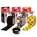 RockTape Kinesiology Tape for Athletes, 3-Rolls Combo Pack