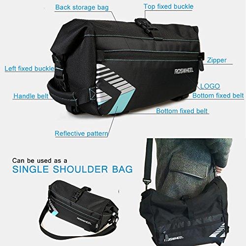Waterproof Bike Bag Bicycle Saddle Bag Cycling Mountain Back Seat Rear Rack Trunk Bags Single Shoulder Bag