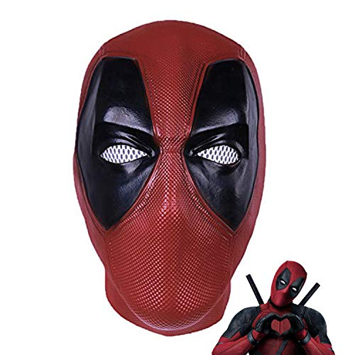 DP Mask Wade Full Mask - Deluxe Full Head Latex Movie Helmet Cosplay Costume Adult Accessory (Deadpool mask) -