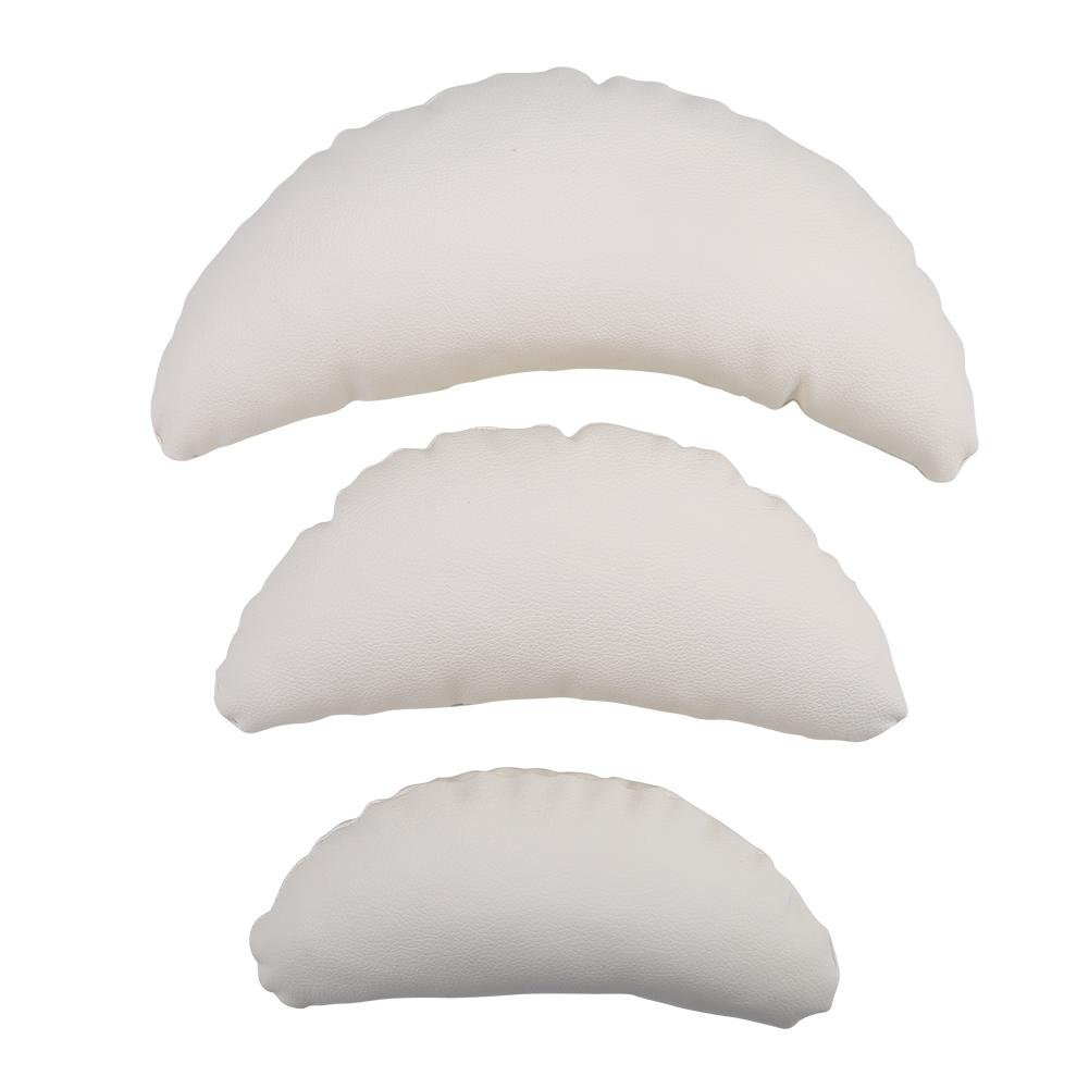 3pcs Newborn Photography Pillow Creative Moon Shape Pillow Soft Nap Cushions Taking Photo Baby Kids Photo Props Room Decoration(White)