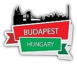Budapest Hungary Travel Art Decor Bumper Sticker 5'' x 4''