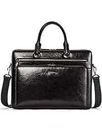 Leather Briefcase Shoulder 15.6