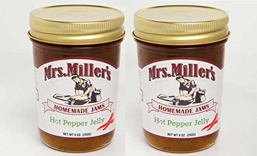 - Mrs. Miller's Amish Made Hot Pepper Jelly 9 Ounces - 2 Pack