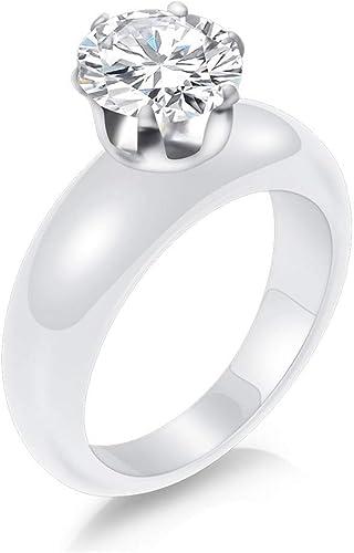 bague or blanc faux diamant