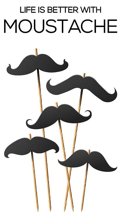 Pegatina de pared Este Life is better with moustache ...