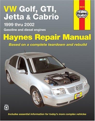 2001 Vw Jetta Diesel - VW Golf, GTI, Jetta and Cabrio, 1999 Thru 2002, Gasoline and diesel engines  (Haynes Repair Manuals)