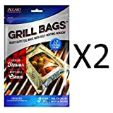 Jaccard Qbag 3pc Heavy Duty Foil Grill Medium Bags Self-Venting Window (2-Pack)
