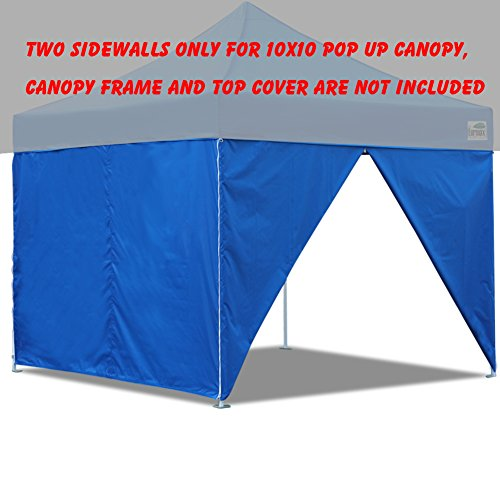 Eurmax Pop Up Canopy Sidewalls for 10×10 Pop up Canopy Party Tent Side Walls Zipper End (2 walls only) (Blue)