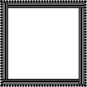 Casa cordon decorativo marco arte de pared pared pegatinas etiqueta 02 - 50cm Altura - 50cm Ancho - Negro Vinilo