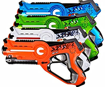 Legacy Toys Laser Tag Set for Kids Multiplayer 4 Pack